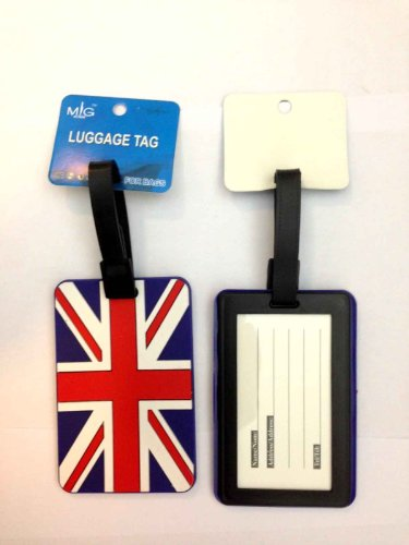 SystemsEleven Luggage Tag Strap Address Label Name Suitcase Bag Union Jack Print I Love London