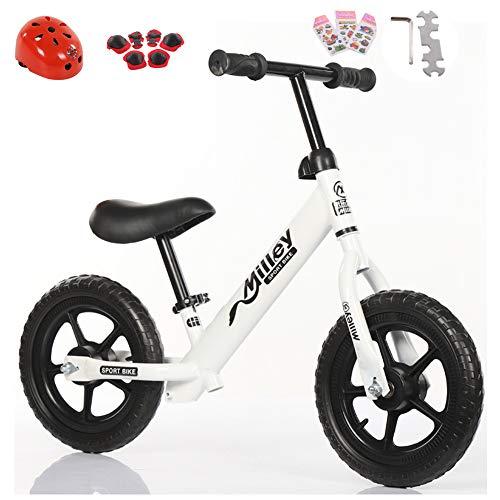 HYM Banana Bike-Leichtgewicht Balance Bike für Kinder-2, 3 und 4 Jahre Olds,White