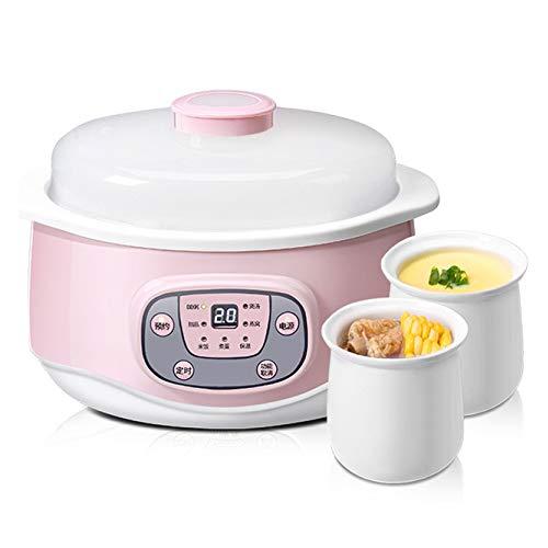 Elektrischer Schongarer 1.2L Keramik Slow Cooker,Elektrischer Haushaltseintopf,Multikocher Zum Kochen Von Suppenbrei Und Gedämpften Lebensmitteln