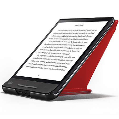 Forefront Cases Kobo Forma Hülle | Magnetische Schutzülle Cover & Ständer für Kobo Forma Ebook Reader 2018 | Origami Design & Smart Automatische Schlaf Wach Funktion | Elegant Dünn Leicht | Rot