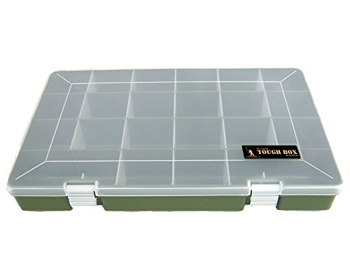 Roddarch 'Tough Box' Adjustable 22 Compartment Tray Fishing Tackle Box for Floats, Rigs, Lures & Other Equipment