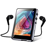 32GB MP3 Player with Bluetooth 5.0, Music Player with 2.4inch Full Touch Screen, HiFi Lossless Sound, FM Radio, Line-in Record, A-B Repeat Function, Built-in Speaker, Support TF Card up to 128GB