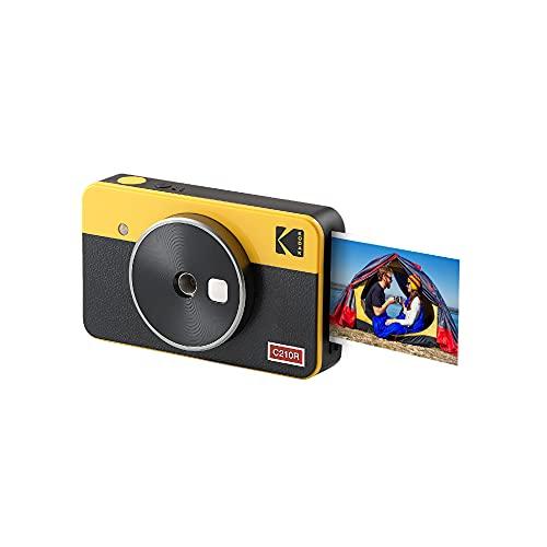 Kodak Mini Shot 2 Retro Fotocamera Istantanea e Stampante Fotografica Portatile, Ios e Android, Tecnologia 4Pass (54 X 86 Mm) - Giallo - 8 Fogli