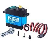 Smraza 20KG サーボモーター デジタル 高トルク メタルギア (270°制御角度) デジタルステアリング 防水サーボモータ RC/ラジコンロボットカー用