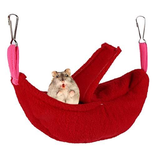 jieqing Cama Conejo Camas para Gatos Jaula de Ratas Accesorios Guinea Cerdo Hamaca Ardilla Bolsa de Dormir Conejo de la Cama Hamacas de Rata para Jaula Red