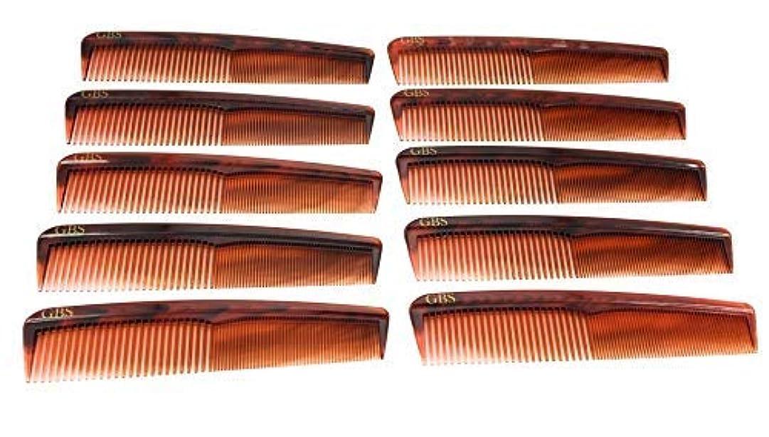 見積りスペイン語落ち着くGBS Professional Handmade Grooming Combs - Tortoise Course/Fine Styling Combs - 10 Pack! [並行輸入品]