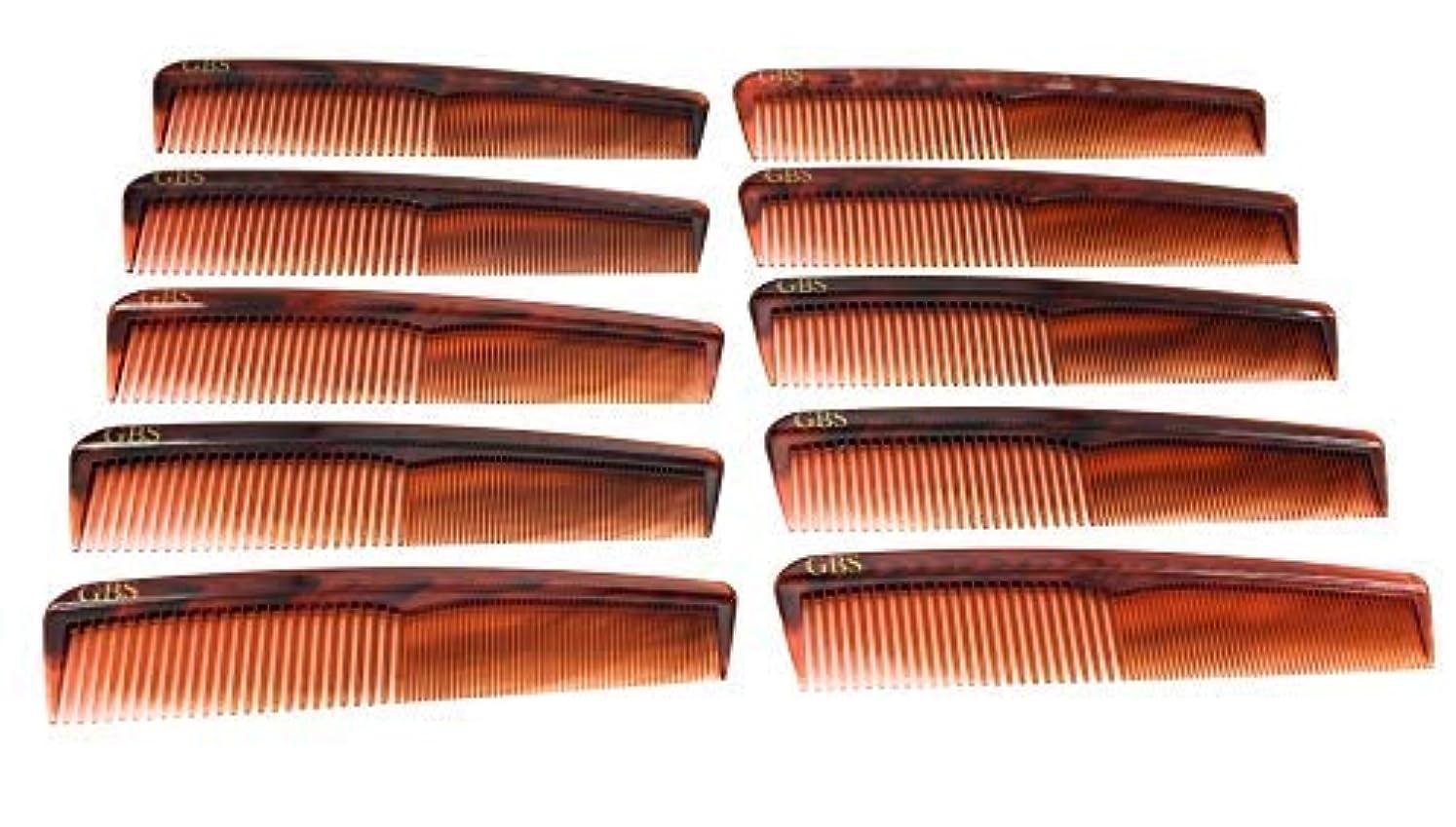 レイア不足尾GBS Professional Handmade Grooming Combs - Tortoise Course/Fine Styling Combs - 10 Pack! [並行輸入品]