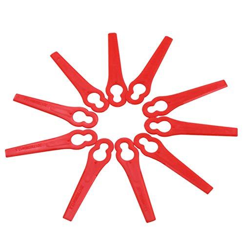 Tailixing Rasentrimmer Ersatzmesser Kunststoff Messer,100 Stück Rasentrimmer Messer Kunststoff Ersatzmesser Rasenmäherklinge für Akku-Rasentrimmer, FRT18A, FRT18A1, Kunst46155, FRT20A1