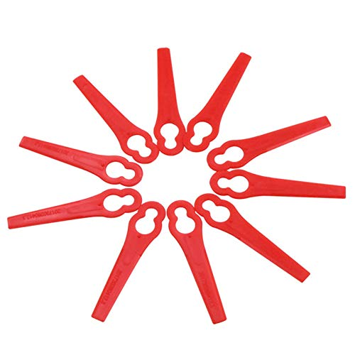 Tailixing 100 Stück Rasentrimmer Ersatzmesser Kunststoffmesser, Rasentrimmer Messer Kunststoff Ersatzmesser für FRT18A, FRT18A1, Kunst46155, FRT20A1 Rasentrimmer Zubehör