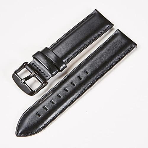 XUEMEI KTAB Smart Accessori Banda per Nokia Steel Genuine Pelle Cinturino Sostituzione Cinturino per Orologio Braccialetto per ACCETTI Acciaio HR 36mm40mm (Color : Black B, Size : 18mm for 36)