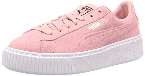 PUMA Suede Platform, Zapatillas para Mujer, Multicolor Bridal Rose Team Gold, 38.5 EU