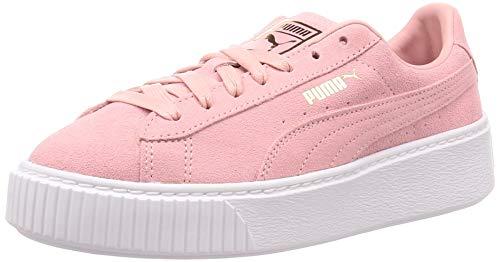 Puma Suede Platform Sneaker Damen, Mehrfarbig (Bridal Rose-Puma Team Gold 14), 37 EU