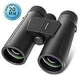 Lijueky Roof Binoculars Compact Binoculars for Adults, 20mm Large Aperture Professional Binocular with Weak Light Vision - BAK4 Prism FMC Lens Binoculars for Birds Watching Hunting