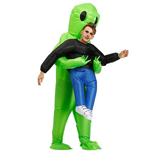 Zoomarlous Aufblasbares Kostüm,Blow Up Anzug,Cosplay Kostüme, Grünes aufblasbares Kostüm Cosplay Kostüm Spaß Blow Up Anzug Party Kostüm Kostüm Halloween Kostüm für Erwachsene Kinder