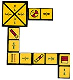 WIEBE CARLSON ASSOCIATES Fraction Dominoes Game