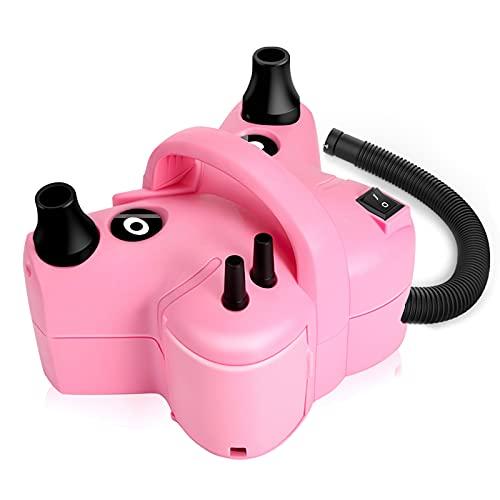 Awroutdoor Multifuncional Bomba de Aire Eléctrica, 600W 2 in 1 Inflador de Globos, Hinchador eléctrico para Inflar/Desinflar Bote Inflable, Colchón de Aire, Juguetes Hinchable, con 5 Boquillas