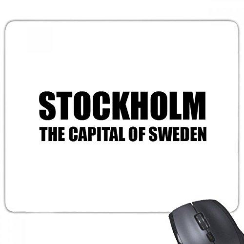 Stockholm Sveriges huvudstad halkfri gummimusmatta spel kontor musmatta gåva