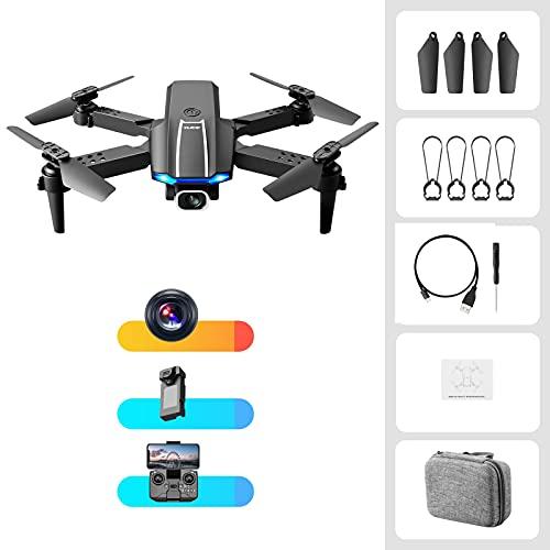 Tenglang S65MiniDrone,DronepieghevoleQuadcopter,confotocamera4KHDFPV,controllo remoto/APPmodalità headless,aereoa quattro assiperadulti/bambini (Fotocamerasingolanera)