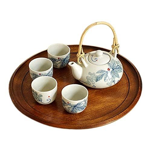 Juego de Tazas de té y café, Tinta bajo vidriado, Estilo japonés, con Mango y Juego de Tazas de té, Servicio para 4 Adultos, bellamente empaquetado en una Caja de Regalo, excelente decoració