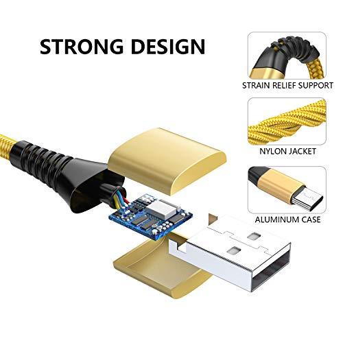 USB Typ C Kabel Aioneus USB C Ladekabel Kabel [2 Stück 1.8M] Nylon 3A Typ C Ladekabel und USB C Schnellladekabel für Samsung Galaxy A20E/A70/A50/A40/A20/S10/S9/S8/S8+,Huawei P20/P10/P9,Sony Xperia