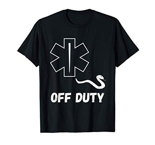 Sanitäter Off Duty Außer Dienst Rettungsdienst Ambulanz T-Shirt
