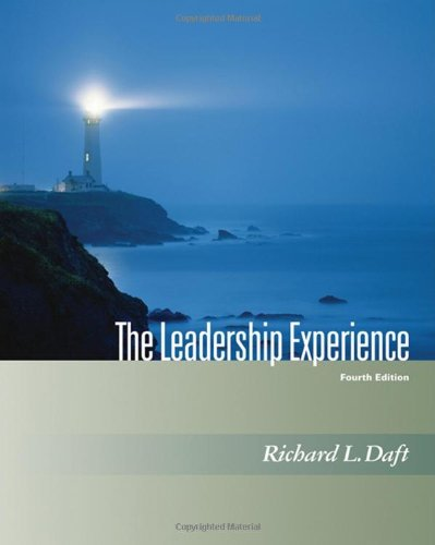 The Leadership Experience (with InfoTrac) (Dryden Press Series in Management)