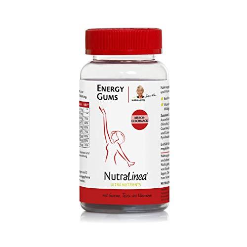 NutraLinea Energy Gums Vegan mit Kirschgeschmack 180g Fruchtgummis mit natürlichem Koffein, Taurin und Guarana sowie Vitaminen