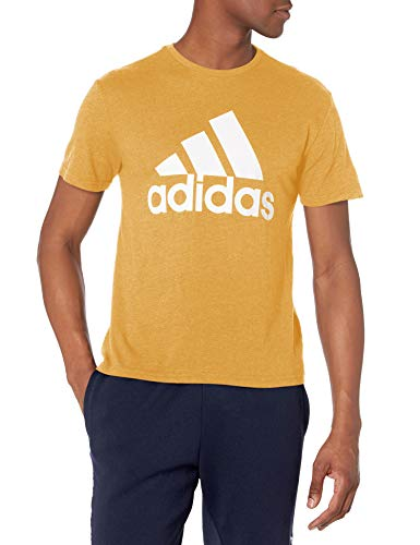 adidas mens Tri-Blend Short Sleeve Tee Gold/White Small