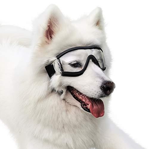 PEDOMUS Hundebrille für Große Hunde Netive Haustier-Sonnenbrille Wasserdicht Winddicht Augenschutz für Groß Hund
