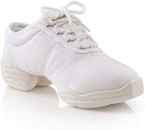 Capezio Canvas Dance Sneaker, Weiß (weiß), 40.5 EU