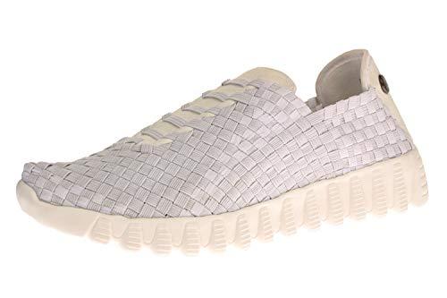 Bernie Mev BM62 Zip Vivaldi - Damen Schuhe Sneaker - 002-white, Größe:37 EU