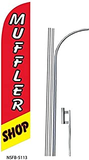 three MUFFLERS yel//red 15 Swooper #4 Feather Flags KIT 3