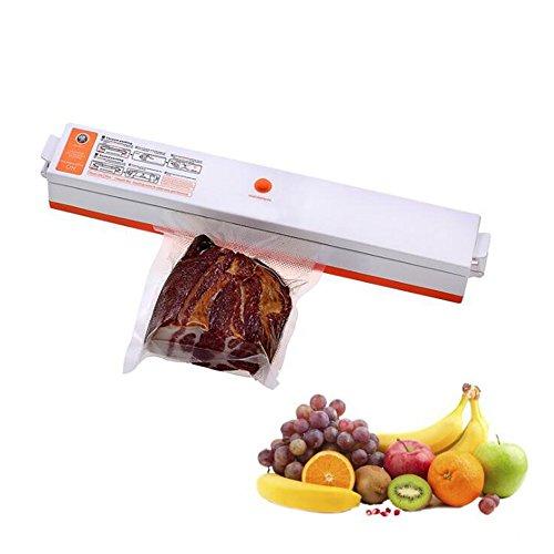 Wotefusi Vacuum Sealer Machine Bags Sealing Machine for Household Food Storage 110V Orange