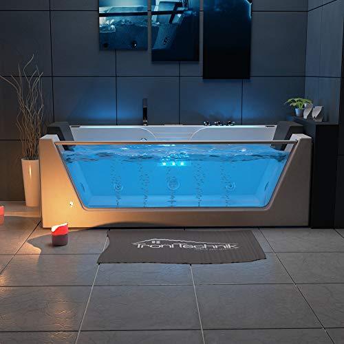 TroniTechnik Whirlpool Badewanne KOS 2 179cm x 85cm mit Heizung Hydromassage Bachlauf und Farblichtherapie - 3