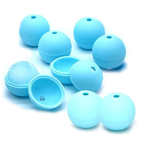 AODOOR Cubitera de silicona con forma de bola, sin BPA, 40 mm, 8 bolas de hielo con tapa, para whisky, cócteles, 8 unidades