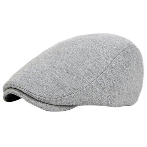 Demarkt Flat Cap Schiebermütze Schirmmütze Schildmmütze Golfermütze Kappe Flatcaps Herren (Hellgrau)