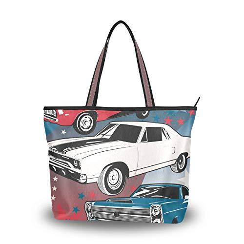 XiangHeFu Bolsos de mujer Bolso de hombro Cool Cars de poliéster