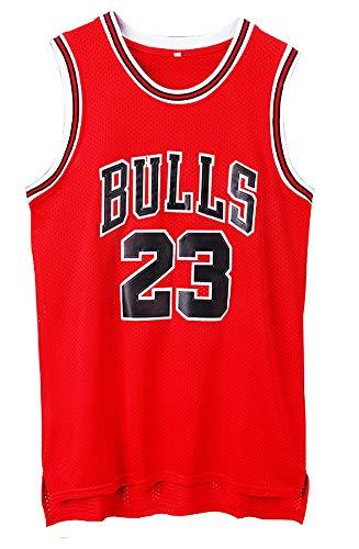 NIDAYE Herren Trikot Michael Jordan # 23 Chicago Bulls Swingman Basketball-Shirts, rot, XXXL