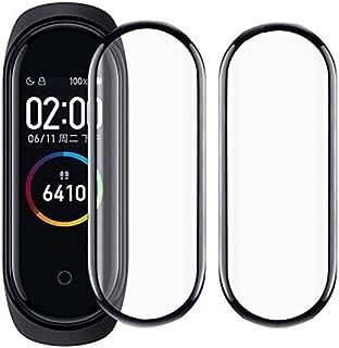 【2021年先端技術】【2枚】for Xiaomi Mi Band 4 フィルム for Xiaomi Mi Smart Band 4全面吸着 炭素繊維PC液晶フィルム 液晶端まで全面覆える 高強度PC素材を使用したPCフィルム 耐久性 撥油性...