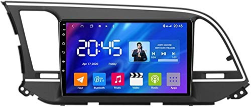 Estéreo para automóvil Android 10.0 Compatible con radio Hyundai Elantra 6 2016-2018 Navegación GPS Unidad principal de 9 '' Pantalla táctil HD Reproductor multimedia MP5 Receptor de video con 4G WiF