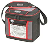 Coleman Soft Cooler Bag | Keeps Ice Up to 24 Hours | 9 Can Insulated Lunch Cooler, Red