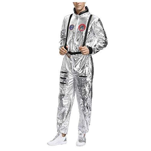 XYFW Männliche Und Weibliche Halloween Paar Kostüm Raumanzug Kollektive Partei Cosplay Astronaut Pilot Dress Up Kostüm Halloween Karneval Nacht,A,M
