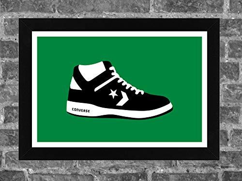 Converse Weapon Shoe Larry Bird Boston Celtics Sports Print Art 17x11