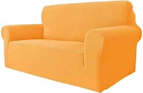 Mazu Homee Funda de sofá súper elástica para 2 sofás de cojín, 1 funda universal para sofá de jacquard de elastano, funda de sofá para perros (sofá, gris claro)