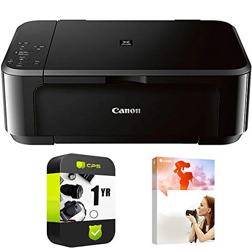 Canon Pixma MG3620 Wireless Inkjet All-in-One Multifunction Printer (0515C002) with PC Treasures Corel PaintShop Pro X9 & 1 Year Protection Warranty