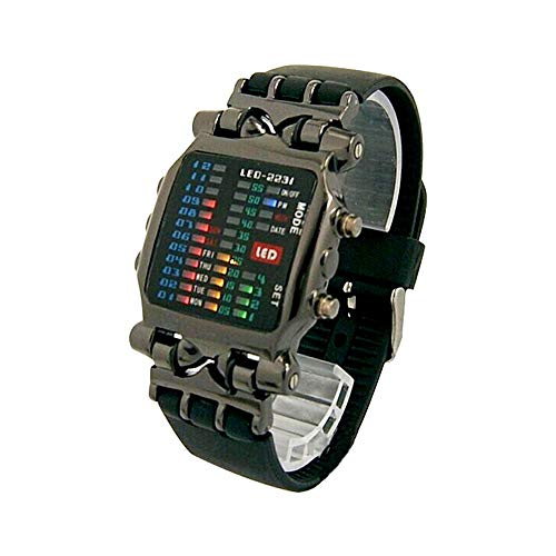 FENKOO TVG Armbanduhren TVG Uhr Herren wasserdichtes Quarzuhr Quadrat Zifferblatt (Farbe : 2)