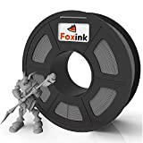 PLA 3D Printer Filament 1.75mm, FOXINK, 3D Printer Consumables PLA Dimensional Accuracy 0.02 mm, 1kg Spool(2.2lbs), 1 Pack, Can Fit Mostly FDM Printers (Gray)