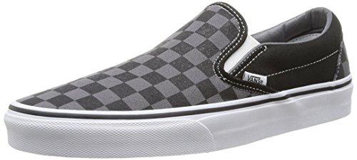 Vans Unisex-Erwachsene Classic Slip-On Low-Top, Schwarz ((Checkerboard) black/pewter), 45 (EU)