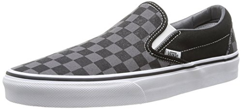 Vans Unisex Classic Slip-On (Checkerboard) Black/Pewter Checkerboard Skate Shoe 9.5 Men US/11 Women US