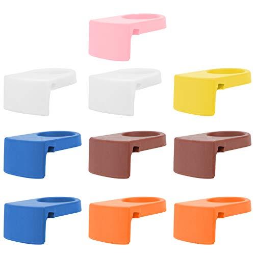 DOITOOL 10 clips de plástico para botella de bebida, para cerveza, cóctel, para goleta y vasos de copa, varios colores